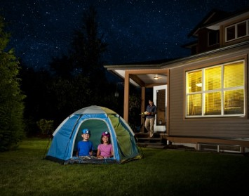 Turf Farm Perth - camping in backyard