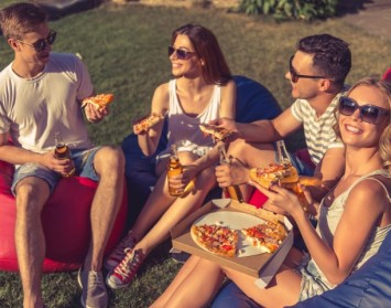 Joondalup Turf Farm - pizza party on comfortable green grass